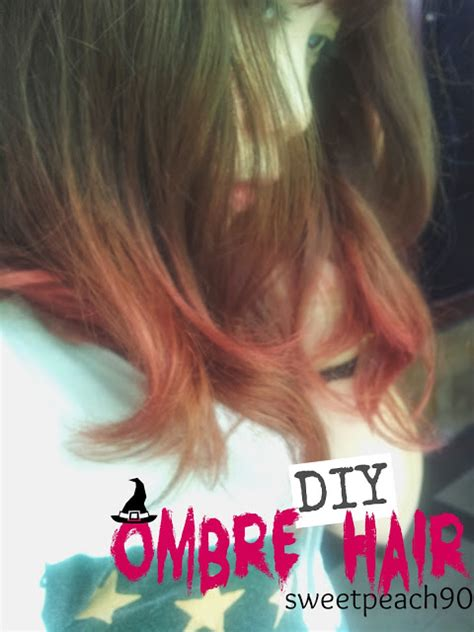 tutorial rambut ombre sweet peach diy ombre hair red pink