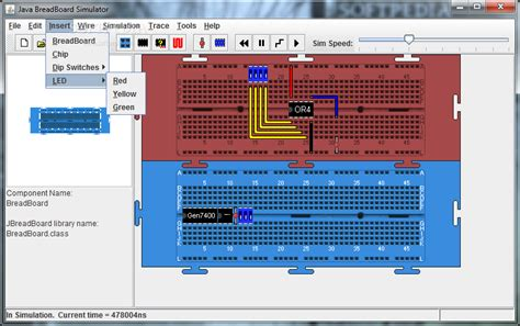 breadboard circuit simulation java breadboard simulator