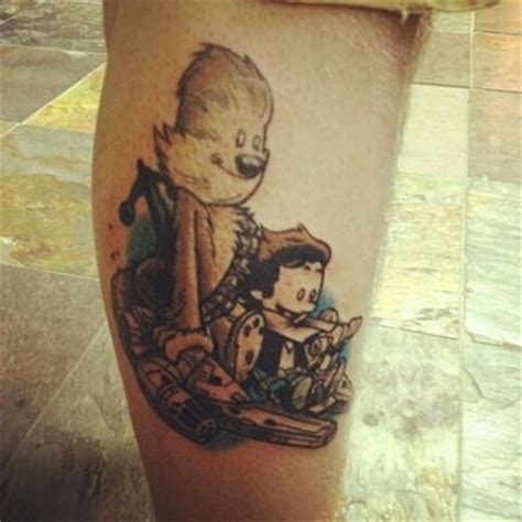 eric s tattoo eric at revolver nj it s calvin and hobbes as han