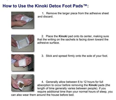 Places Near Me To Foot Detox by Kinoki Foot Detox Patches Directions From One Place