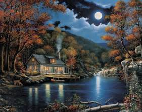 zaccheo cabin by the lake painting cabin by the