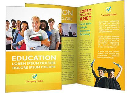 happy students brochure template design pinterest