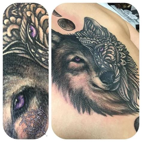 feminine wolf tattoo lucky bamboo tattoos walker mandala