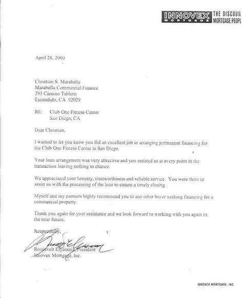 Mortgagee Letter New Construction Letters Of Reference Marabella Commercial Finance