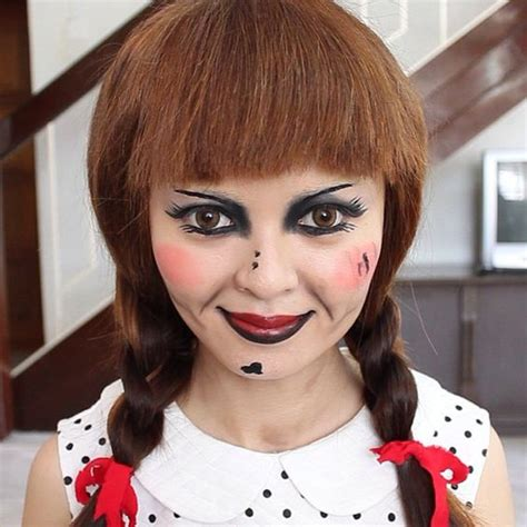 annabelle doll halloween makeup annabelle doll doll makeup and halloween tutorial on
