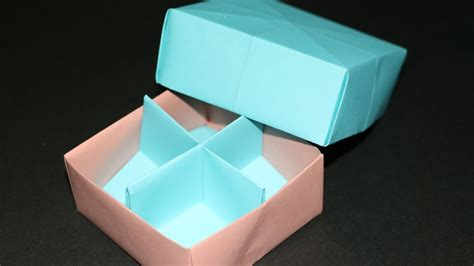 Origami Box Divider - how to make a simple origami box easy origami box