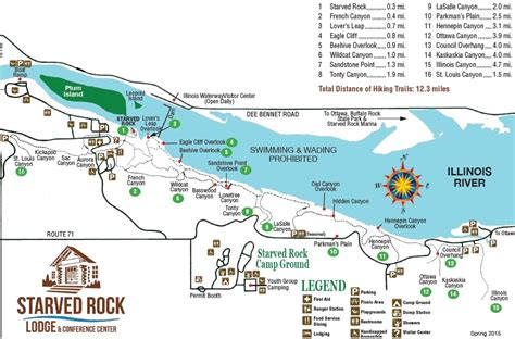 starved rock map starved rock state park in winter the iowa hiker
