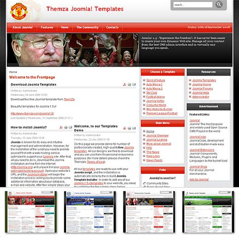 theme blog football free templates blog 187 joomla 1 5 x 187 premier league