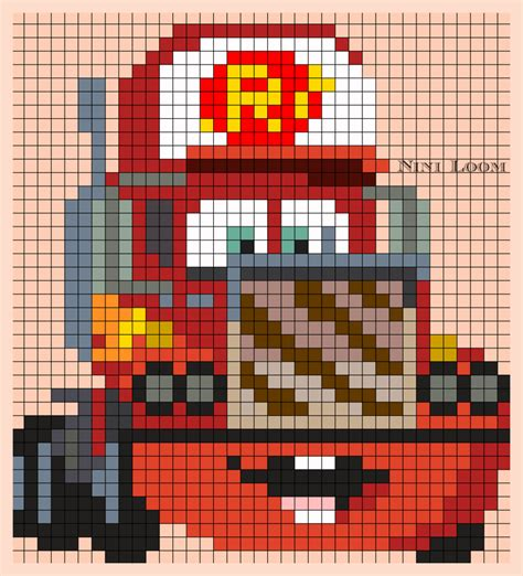 pixel art car personnage disney cars flash mc queen