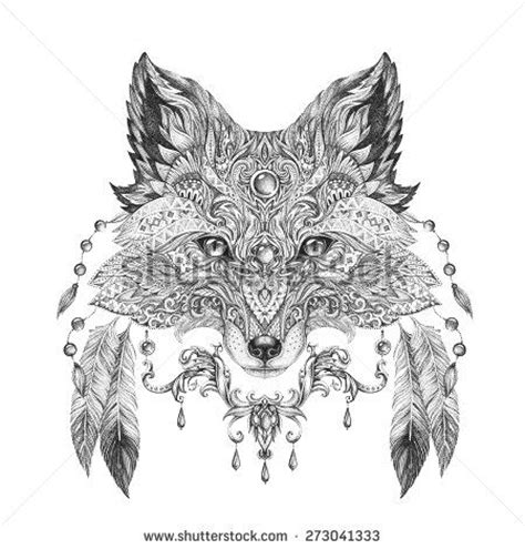 tattoo mandala fox design tattoo animals photos et images de stock