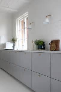 grey kitchen cabinet doors ikea metod veddinge grey cabinet doors with brass door