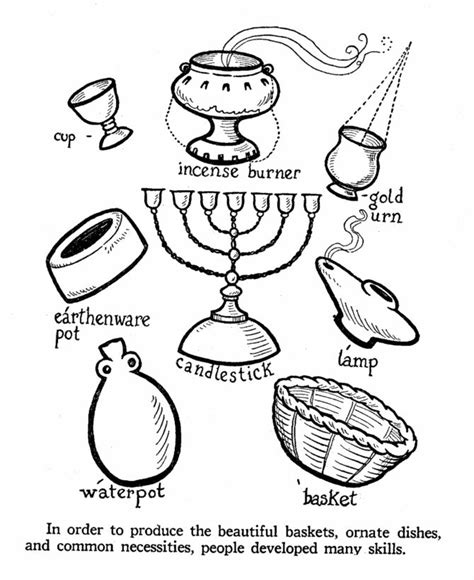 house items coloring pages 59 best bible moses tabernacle images on pinterest
