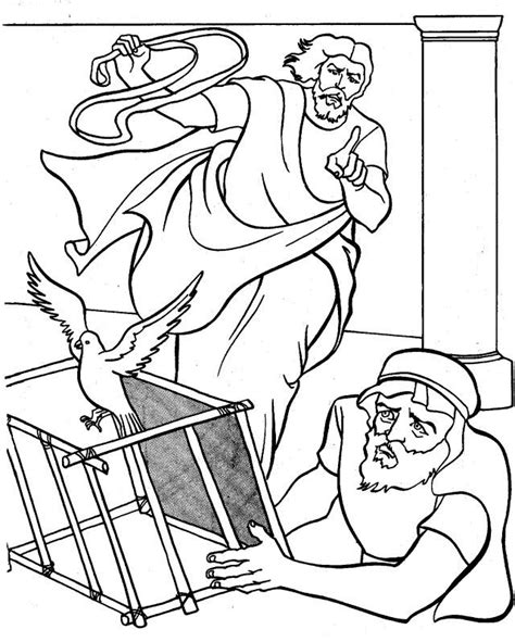 free coloring page jesus in the temple jesus clears the temple coloring page coloring home