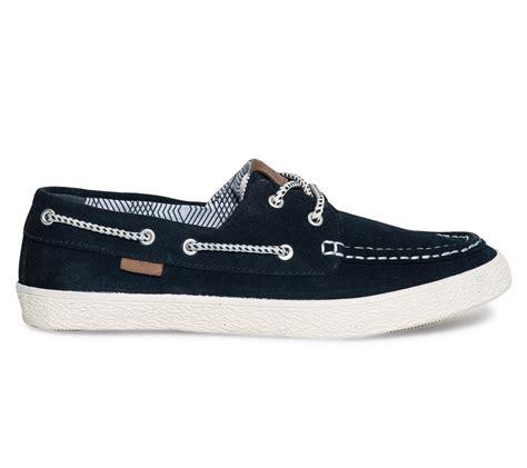 chaussure bateau marine pour homme bleu marine et blanc