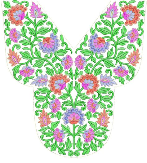 embroidery templates embdesigntube arebain neck embroidery design free