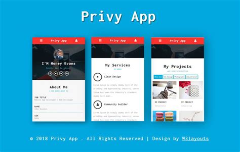 Web App Template Free by Mobile App Website Templates Designs Free