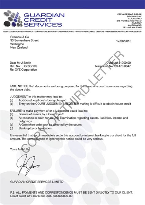 Service Recovery Letter How Icollect Debt Collection System Works Icollect New