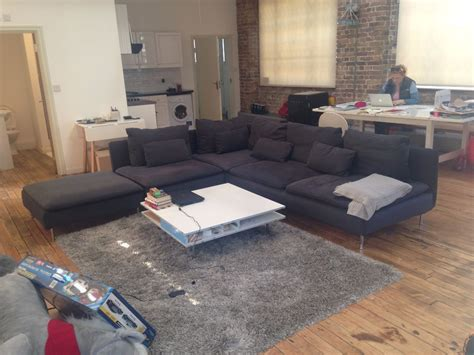 s 214 derhamn three seat sofa and chaise longue samsta