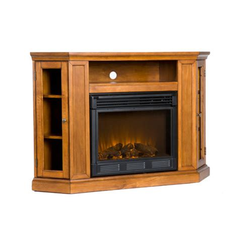 furniture brown tv and media cabinet using fireplace