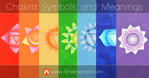 chakra color meanings chakra symbols and their meanings