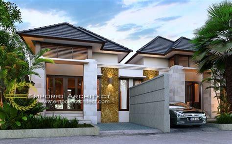 desain rumah villa tropis desain rumah 1 lantai style villa bali tropis jasa arsitek