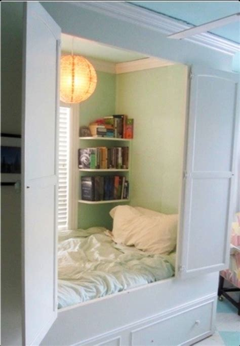 bed in closet bed in the closet diy pinterest