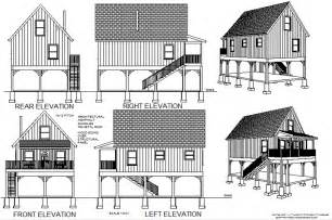 cabin plan 216 aspen cabin plans converted to to raised flood plain