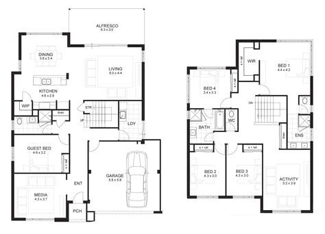 2 story house floor plans with basement two story house plans with daylight basement garage on