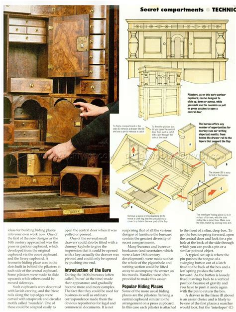 secret compartment furniture woodarchivist
