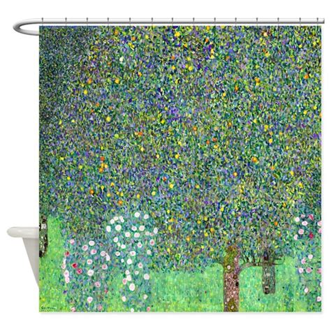 klimt shower curtain klimt rosebushes shower curtain by designdivagifts2