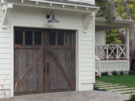 Exterior Garage Door Wood Stained Garage Doors Modern Garage Doors And