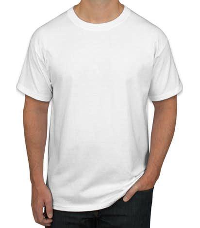 design custom printed hanes tagless t shirts at customink