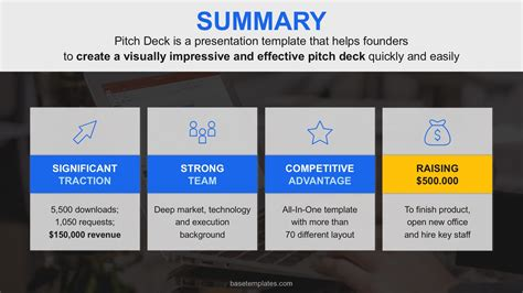 The Building Blocks Of Successful Pitch Deck Basetemplates Pitch Deck Template Slides
