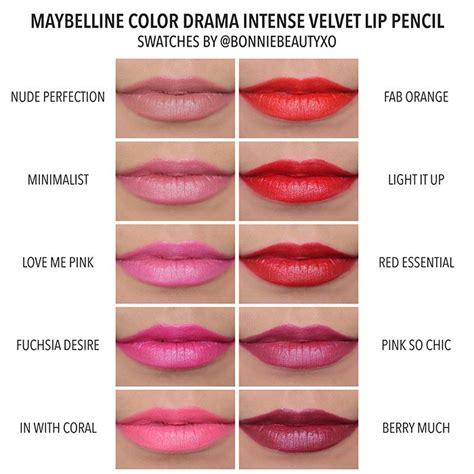 Lip Pencil Maybelline bonniebeautyxo maybelline color drama velvet lip pencil