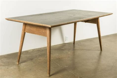 laminate dining room tables modernist french wood and laminate dining table at 1stdibs
