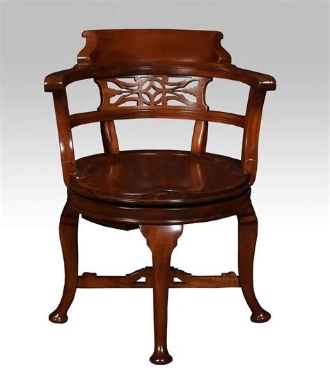 Victorian Mahogany Swivel Desk Chair Antiques Atlas