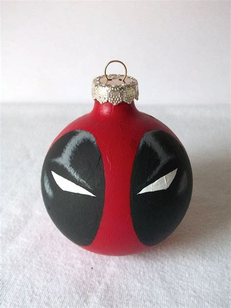 deadpool marvel superhero painted holiday christmas by