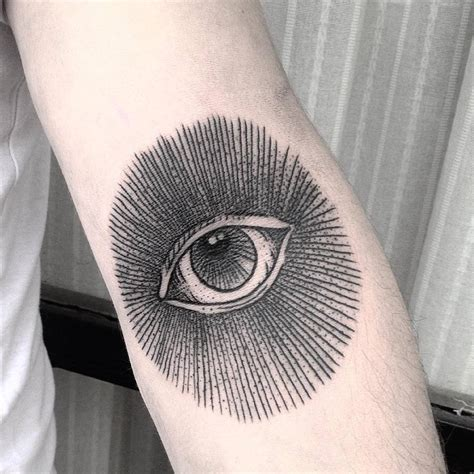 tattoo inner arm elbow eyes that see on the inner elbow by fercha pombo