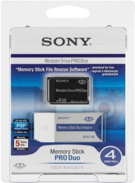 Memory Stick Pro Duo 4gb sony memory stick pro duo 4gb