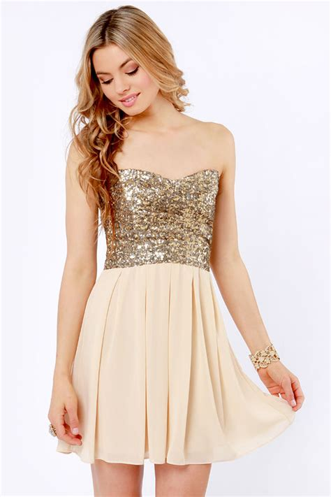 lulu s tfnc emma dress strapless dress sequin dress 102 00
