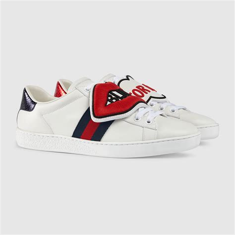 gucci womens sneakers ace sneaker with removable patches gucci s