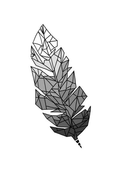 tattoo feather geometric geometric feather art print illustration tattos