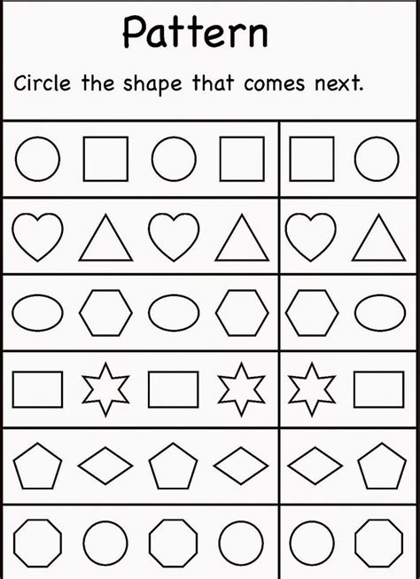 pattern games for 5 year olds 4 year old worksheets printable activity shelter kids