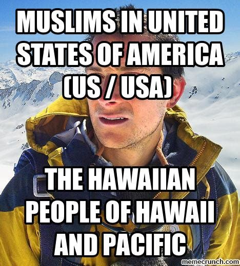 Hawaiian Memes - muslims in united states of america us usa the