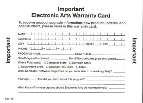 warranty card template c64sets of africa warranty card
