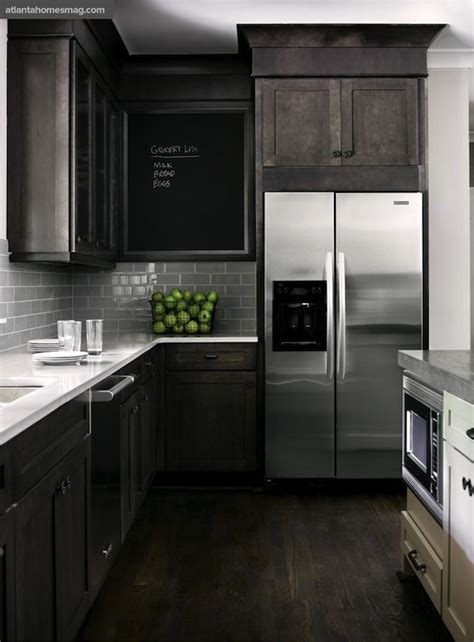 Dark Gray Kitchen Cabinets Design Ideas Black Stained Kitchen Cabinets