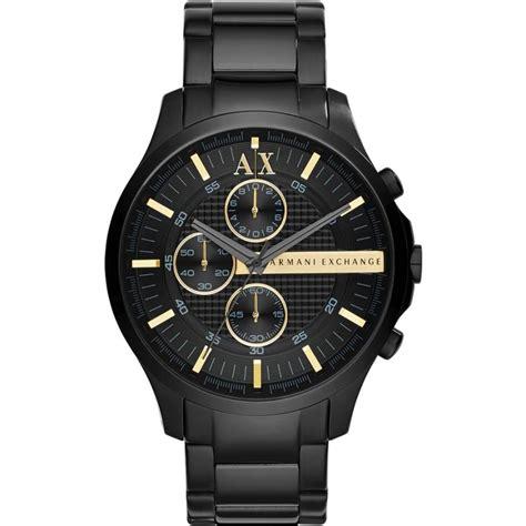 ax2164 armani exchange mens all black chronograph dress