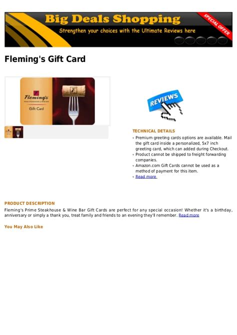 Flemings Gift Card - fleming s gift card