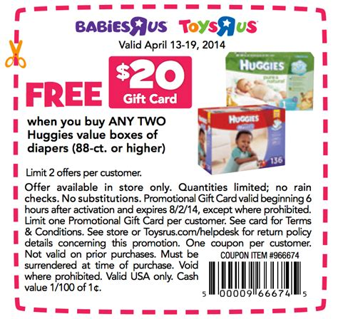 Toys R Us Gift Card Discount - toys r us free 20 gift card printable coupon