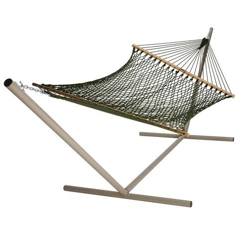 hammock swings lowes shop pawleys island 13 ft green acrylic double hammock at